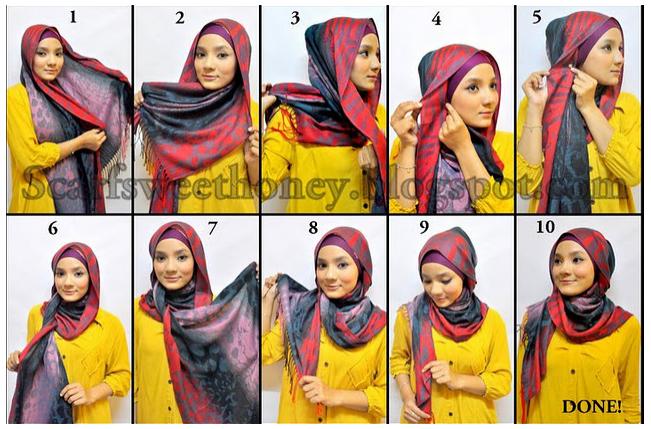 Cara Memakai Jilbab Style Mainstay - Tutorial Memakai