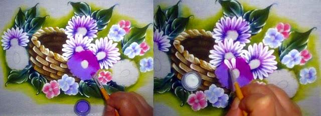 pintura em tecido passo a passo margarida