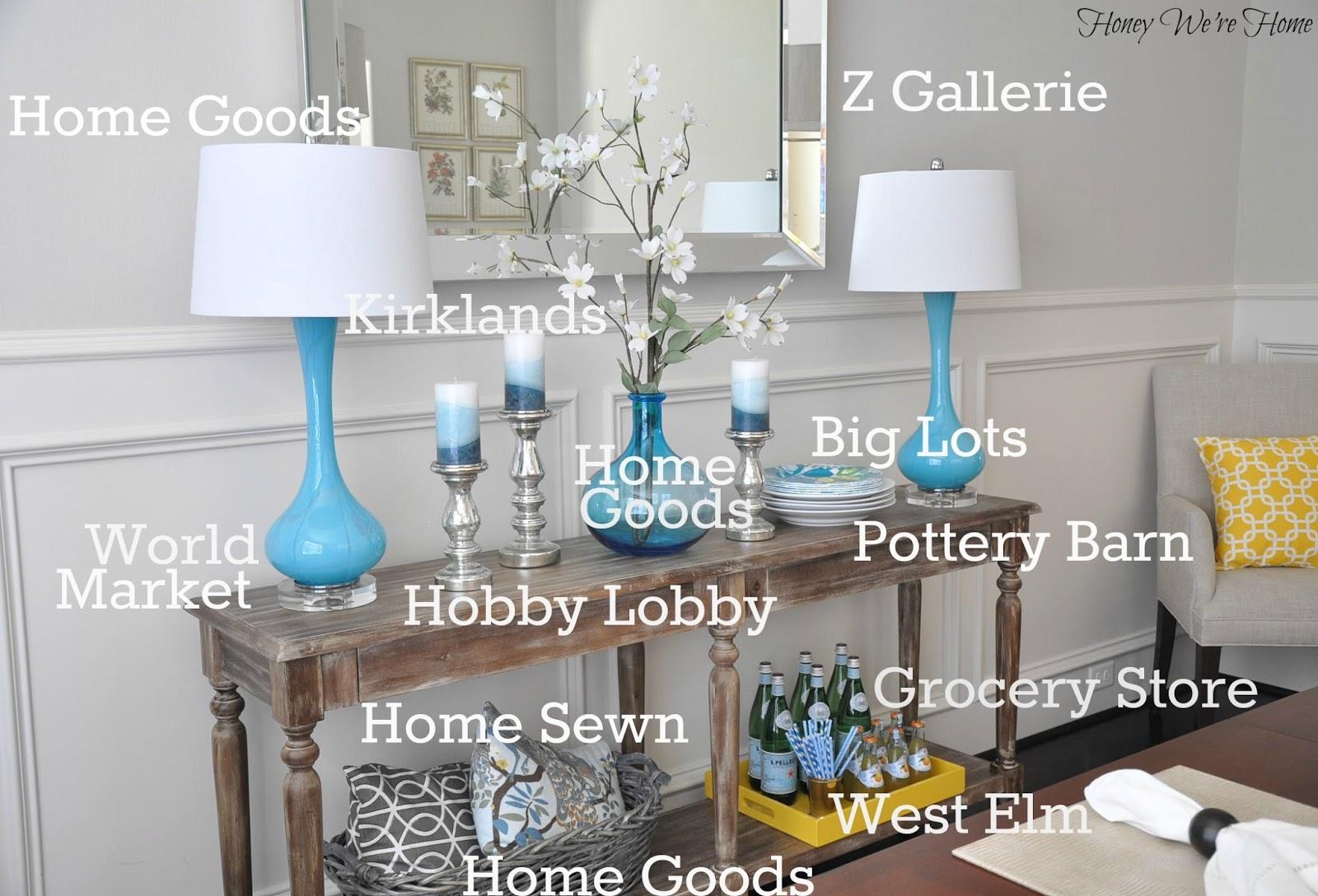 Dining Room Decor Updates // World Market Everett Foyer Table | Home Design
