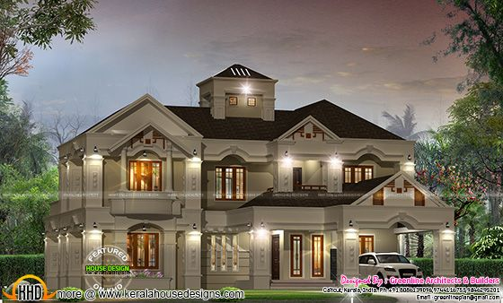 Luxury villa design in Kerala