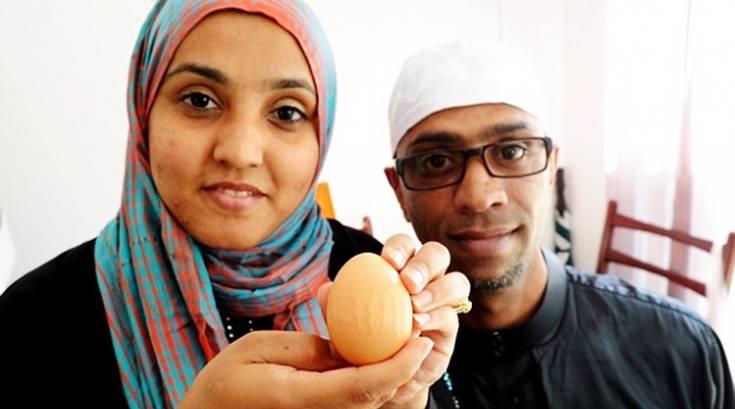 telur dengan nama Allah