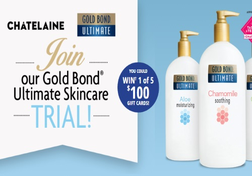 Gold Bond Free Ultimate Lotion Giveaway + Contest