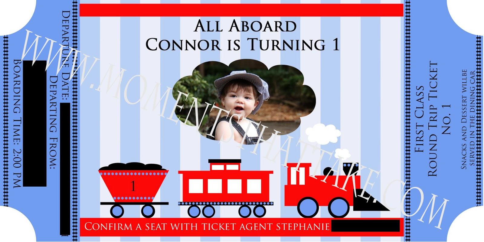 Moments that take my breath away train party connors 1st birthday if you are interested in a customized invitation email me at momentsthattakegmail and i can customize it for you to print yourself for a small fee solutioingenieria Image collections