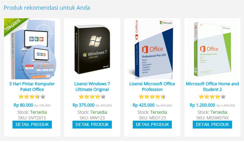 Produck DVDKOMPUTER.COM Pusat dvd komputer terlengkap
