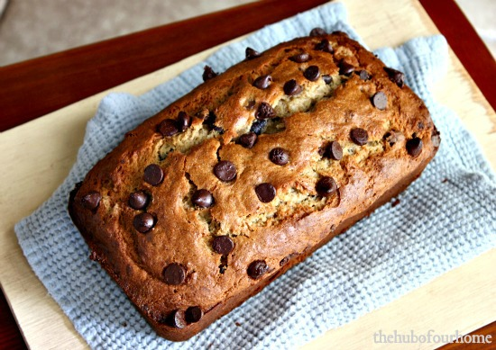 The Hub of our Home: Peanut Butter Chocolate Chip Banana Bread