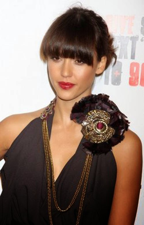 Hairstyles With Bangs For Woman 2015