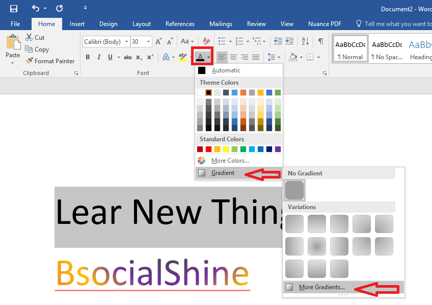 Learn New Things: How to Give Gradient, Rainbow & Coloring to Text ...