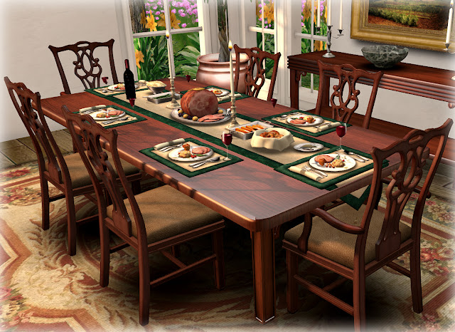 Chippendale dining room furniture