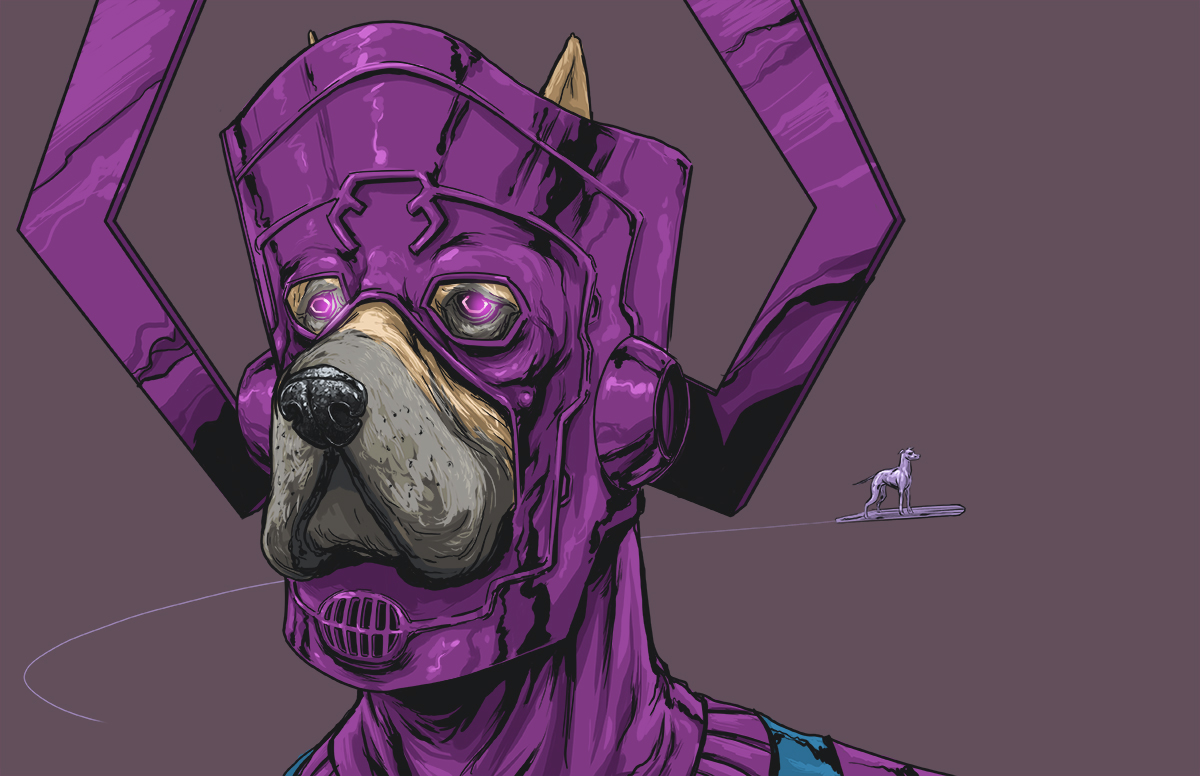 06-Galactus-Fantastic-Four-Josh-Lynch-Illustrations-of-Dogs-with-Marvel-Comic-Alter-Egos-www-designstack-co