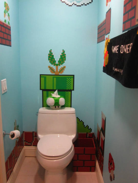 10 envy inducing video game bathrooms mental floss On bathroom games