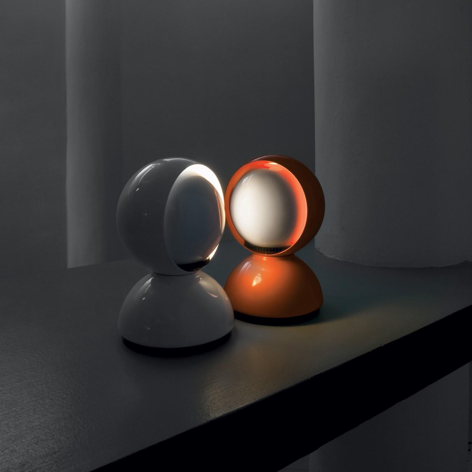 Eclisse Lamp White Orange Artemide Home Amp Lighting