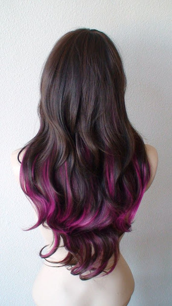 pretty pink highlights - haircut