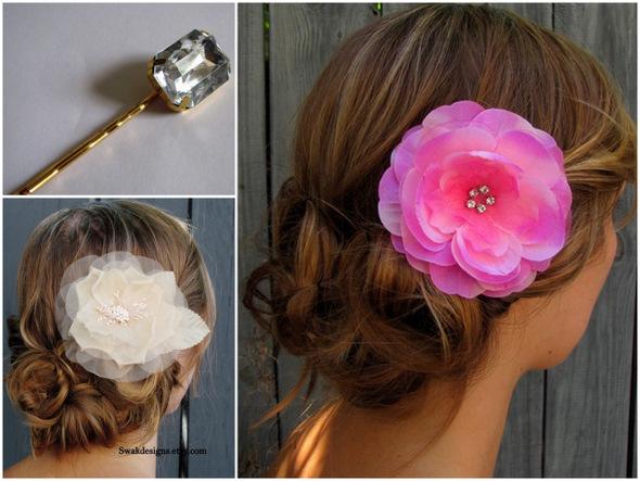 Цветы в волосы как сделать