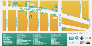 Toronto Junction Music Festival Legend & Map September 22, 2012, poster by Junction BIA