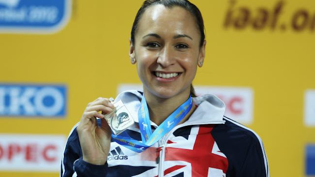 Jessica Ennis-Hill of Great Britain stands on the podium during the medal ceremony for the Women's Pentathlon during day one of the 14th IAAF World Indoor Championships.Source:Getty Images