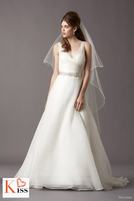 Watters 2013 Spring A-line organza Wedding Dresses