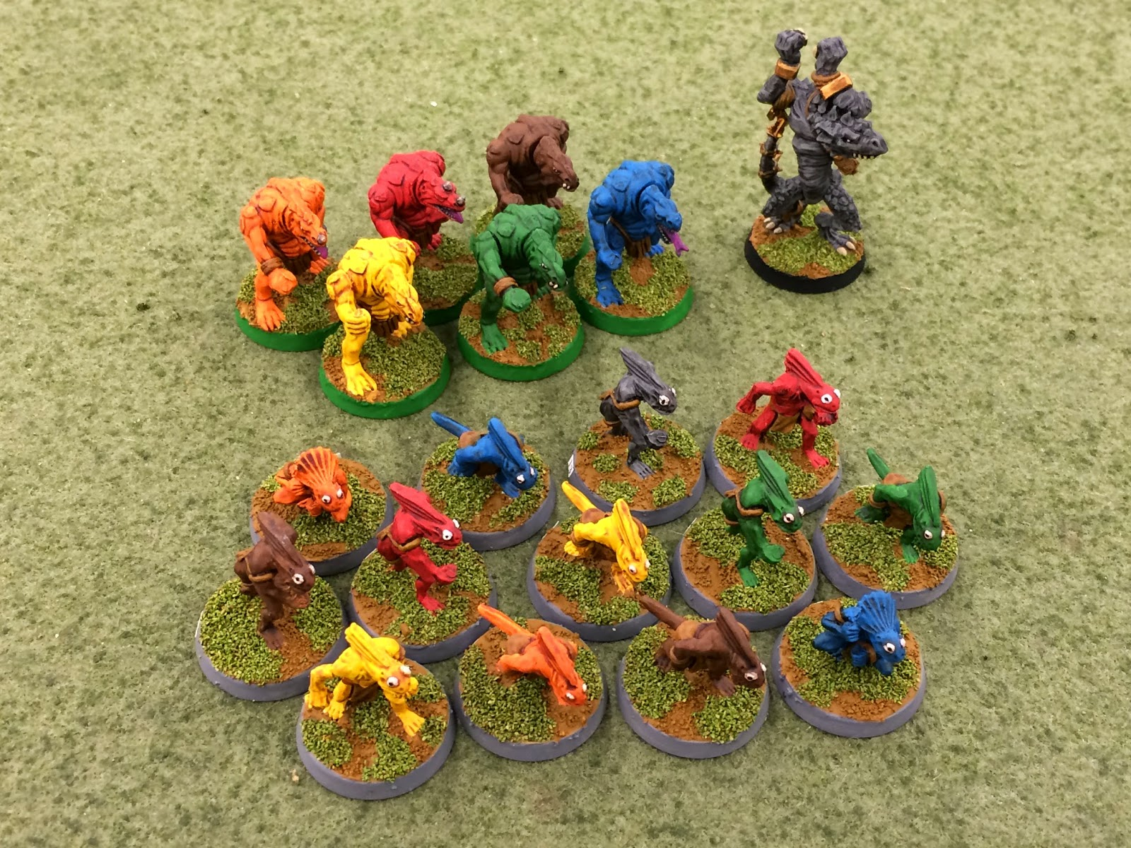 Building Lizardman Team Blood Bowl