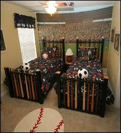 baseball bedroom decorating ideas and baseball themed decor - Boys Bedroom Decorating Ideas Sports