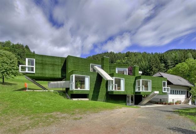 في النمسا واحد من أغرب المنازل التي شيدت وتم تغطيتها بالعشب الأخضر Grass-Covered-House-in-Frohnleiten-by-ORTIS-GmbH-3