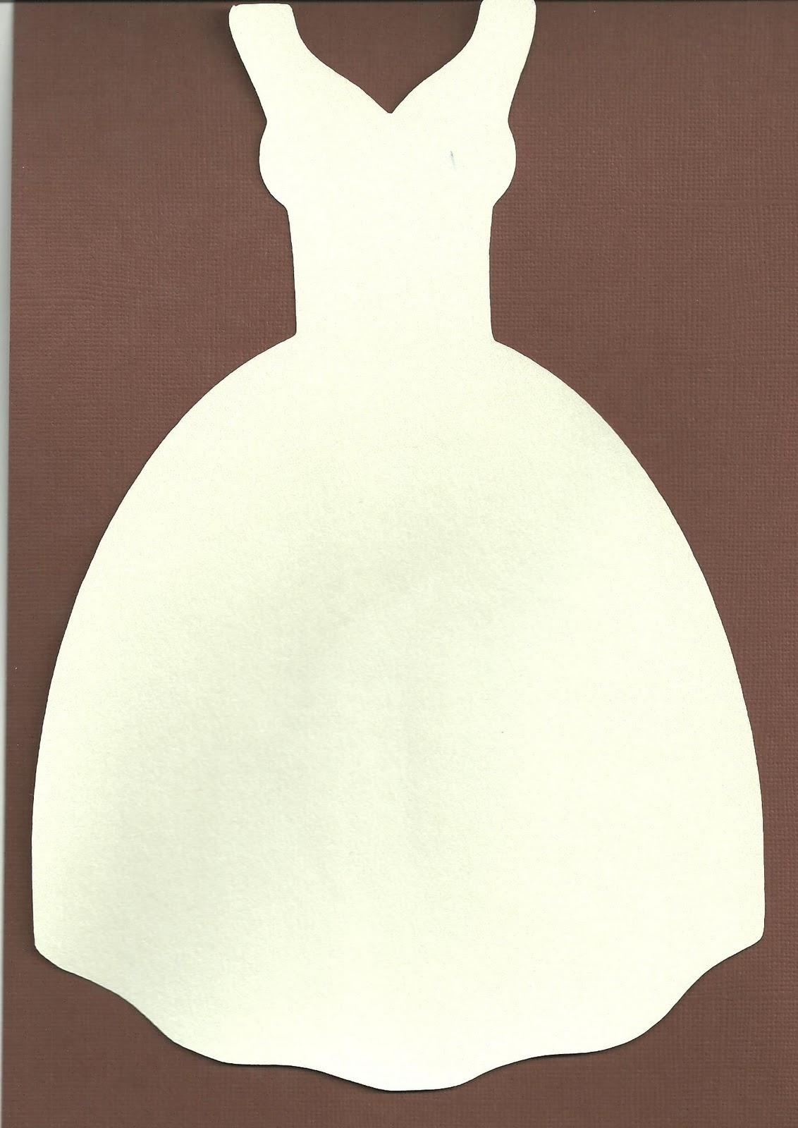 Jennifer collector of hobbies free svg file wedding dress shaped card