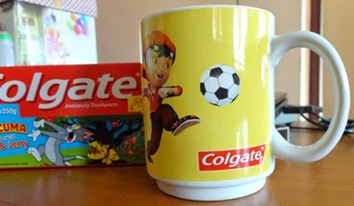 Beli colgate dapat free mug Boboi Boy, harga colgate, kepentingan colgate, free gift colgate