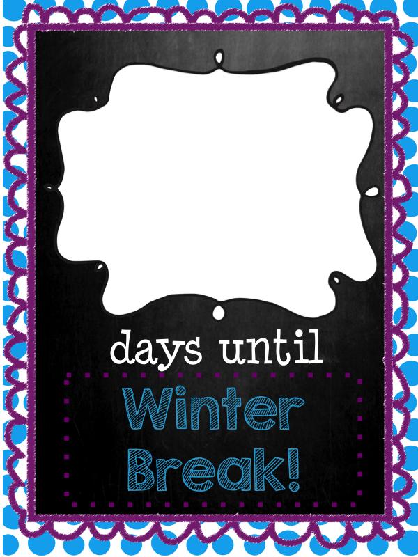 Mrs. MeGown's Second Grade Safari: Days Until Winter Break ...