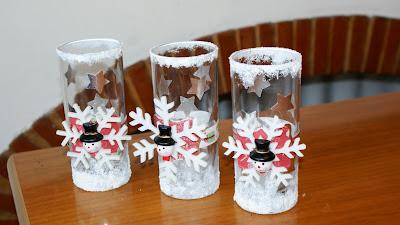 Idee per natale - Decorare bicchieri di vetro ...