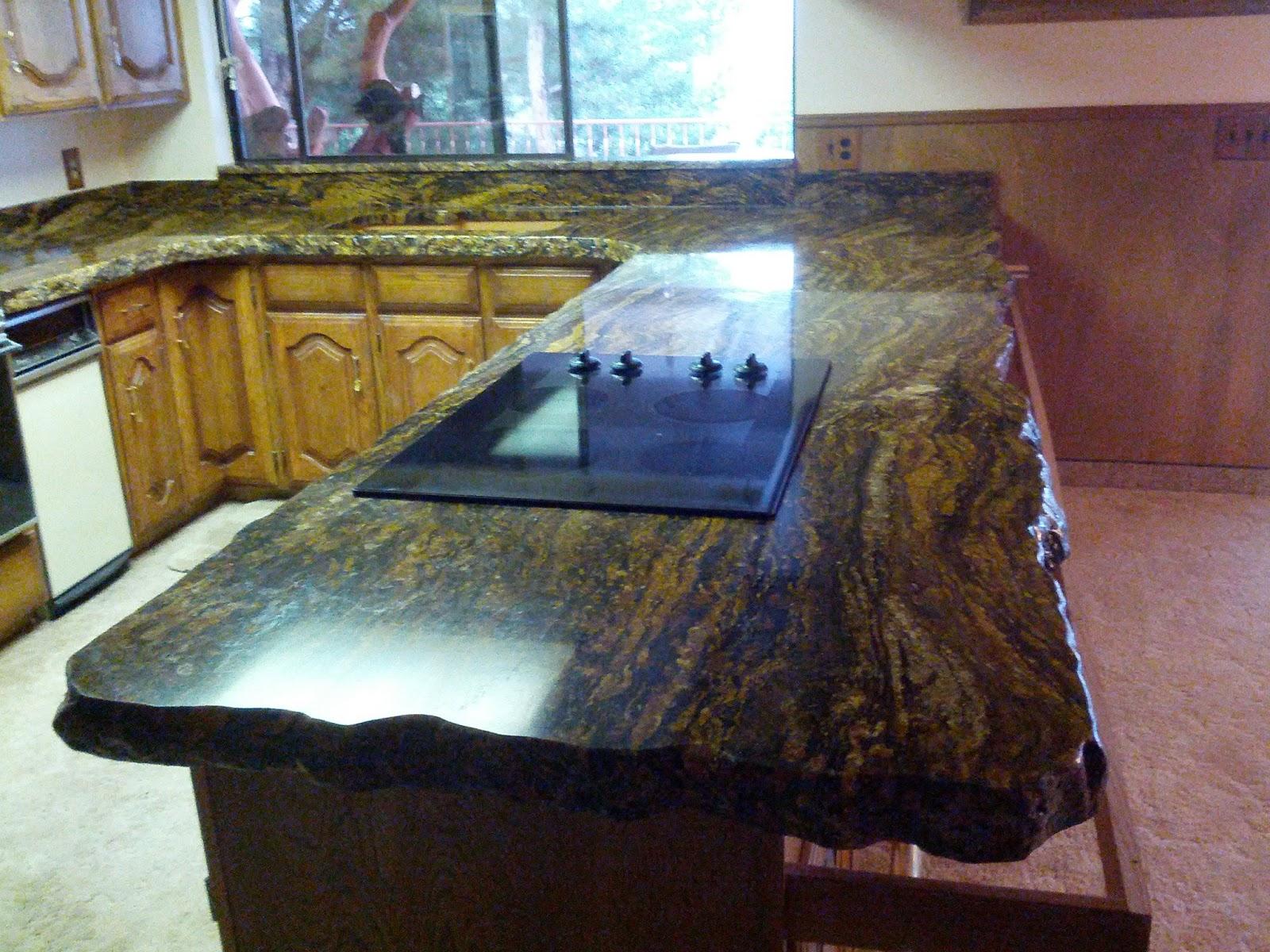 Rustic Chiseled Edge Blue Storm Granite