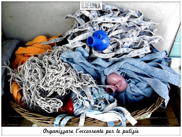 Organizzare l'occorrente per le pulizie - Mochi Puliti