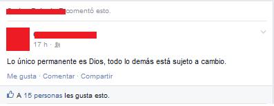 ¿lo unico permante es dios?