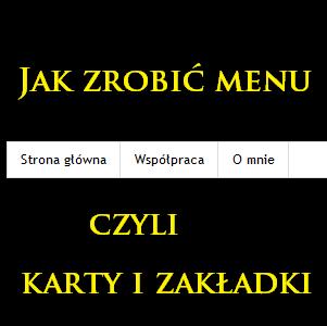 Jak dodać strony (zakładkę, menu, karty) na bloga blogspot?