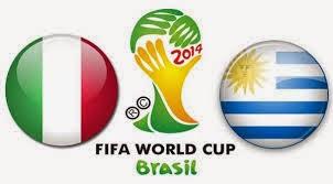 Italia (eliminada) 0 - 1 Urugay