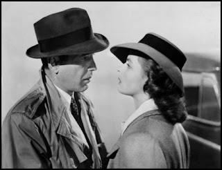 Humphrey Bogart e Ingrid Bergman en Casablanca