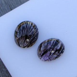 amethyst cabochons