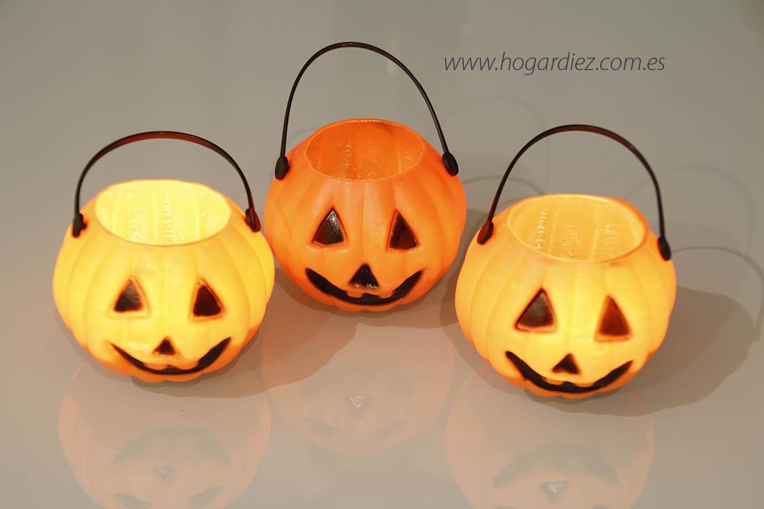 Halloween calabazas con velas