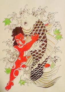 Koi Fish Tattoo Design - Flash Tattoo