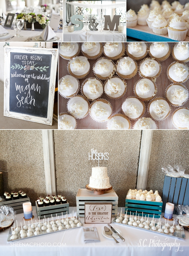 Veranda at the Whitcomb Saint Joseph Michigan Wedding Glitter cupcakes