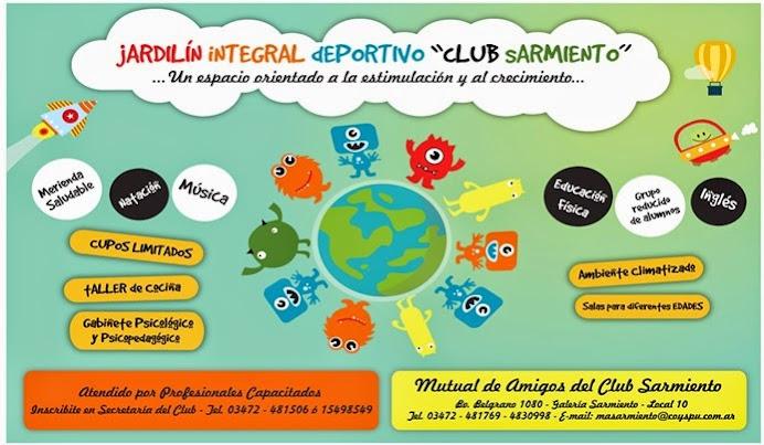 ESPACIO PUBLICITARIO: JARDIN INTEGRAL CLUB SARMIENTO