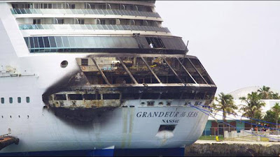 Royal Caribbean cruise on fire photo