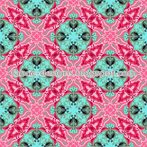 textile geometrical designs in square