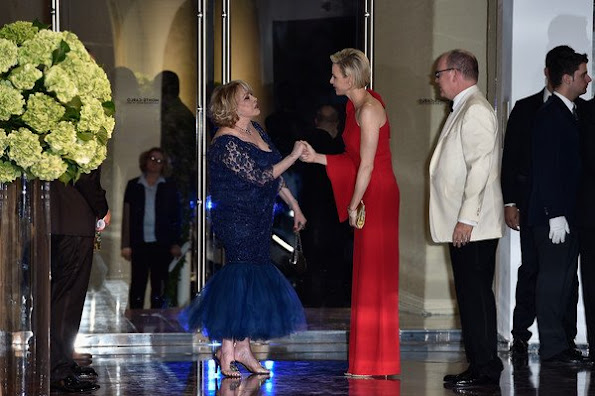 Prince Albert of Monaco and Princess Charlene of Monaco attend the 67th Monaco Red Cross Ball Gala