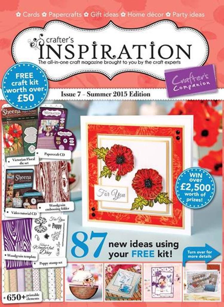 Chuffed to bits to be featured in Issue 7 of the Crafter's Companion Inspirations magazine...