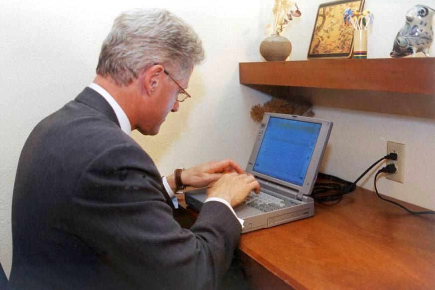 Komputer Riba Bill Clinton Di Lelong