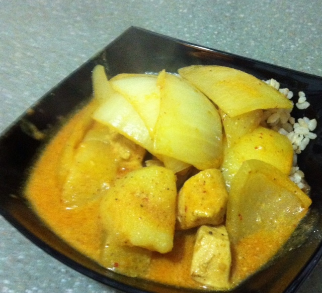 today a little late i bring you thai yellow curry friday potluck