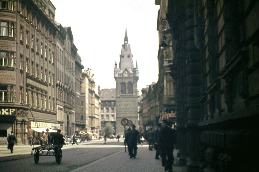 wonderful color photos of prague in 1946 vintage everyday