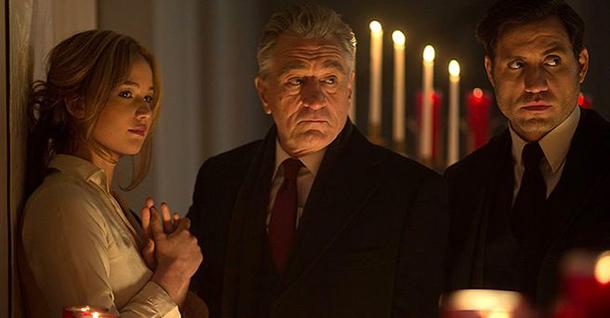 Jennifer Lawrence, Robert De Niro y Édgar Ramírez en 'Joy'