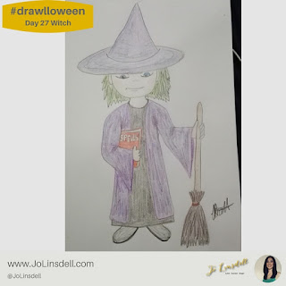 #Drawlloween Day 27 Witch #Drawing #challenge