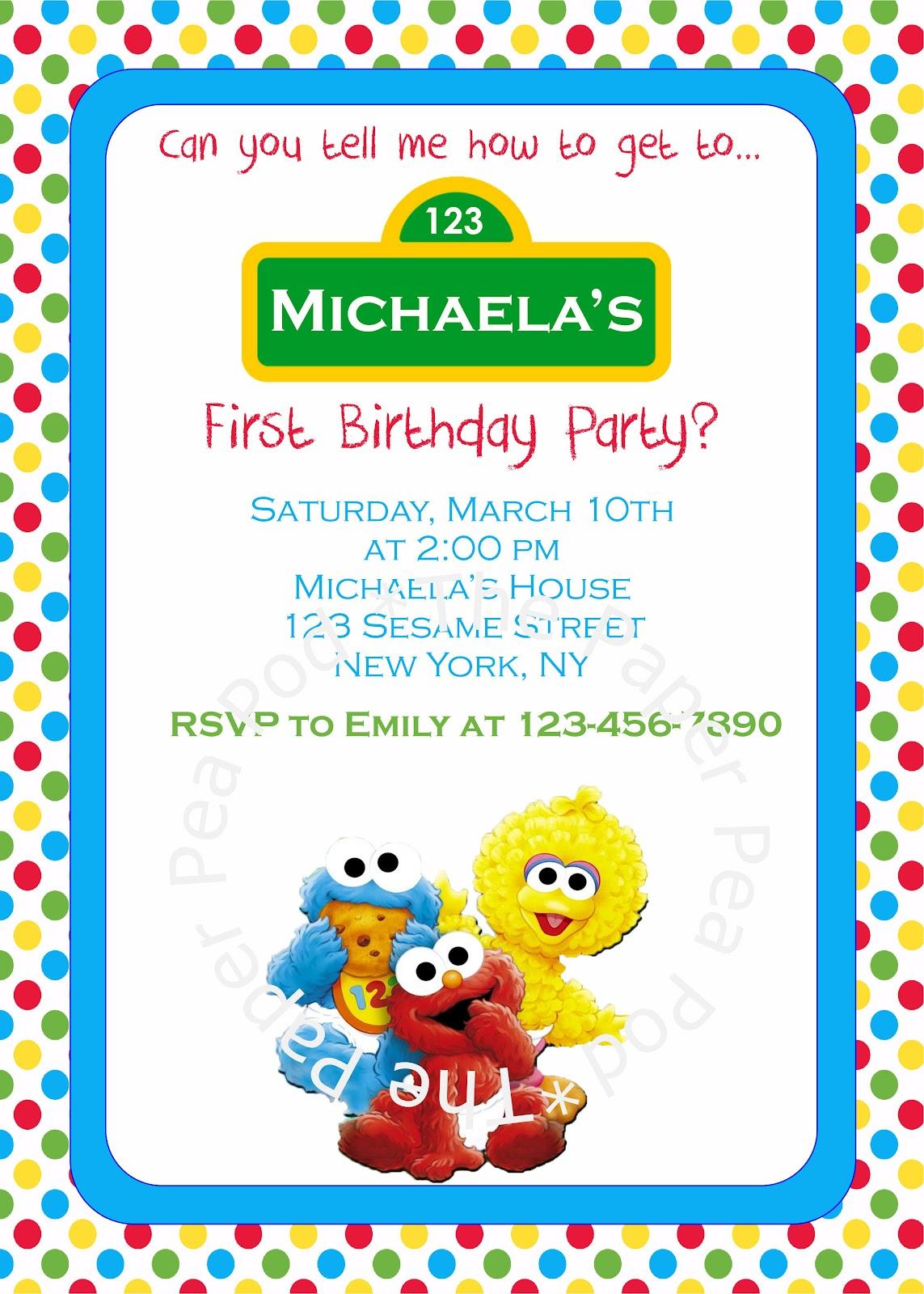 Sesame Street Babies Invitation