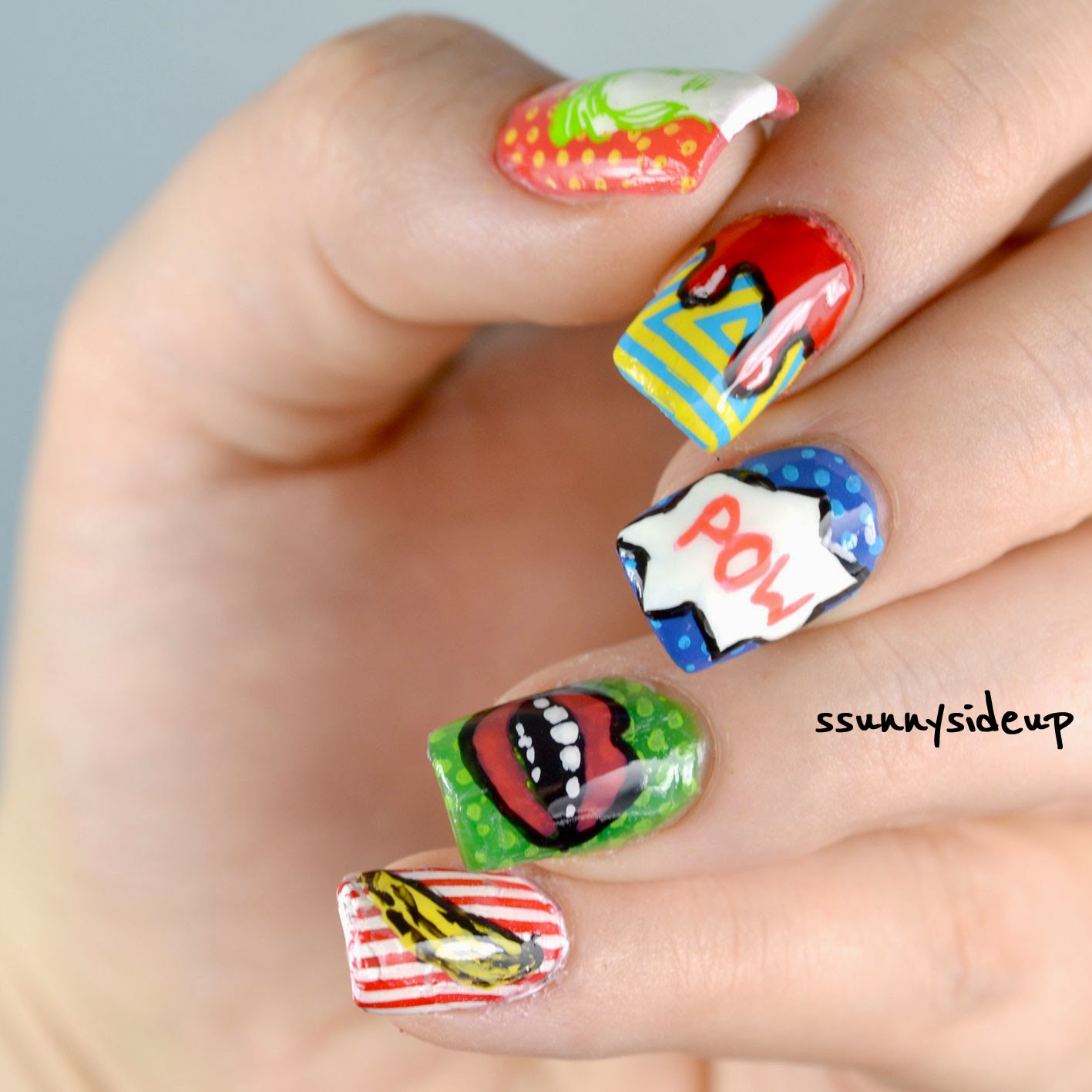 Ssunnysideup review pop art nail art in my had and somehow i couldnt imagine it on my nails the only thing i know was that i absolutely wanted an andy warhol banana on one of my fingers prinsesfo Choice Image