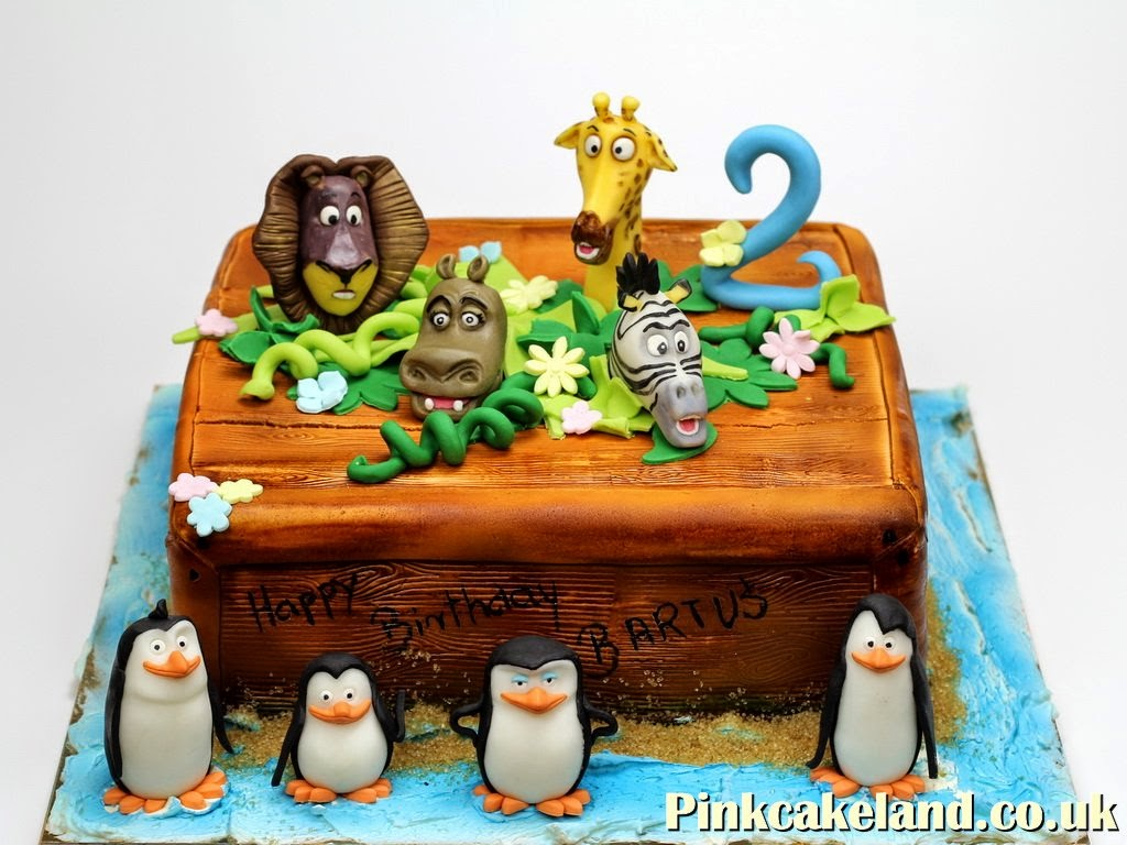 Madagascar Birthday Cake, London